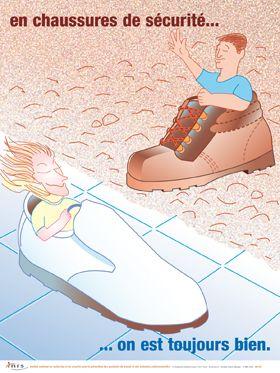 affiche chaussure